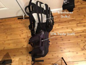 Brenthaven (bulky) | STM Trestle (svelt)