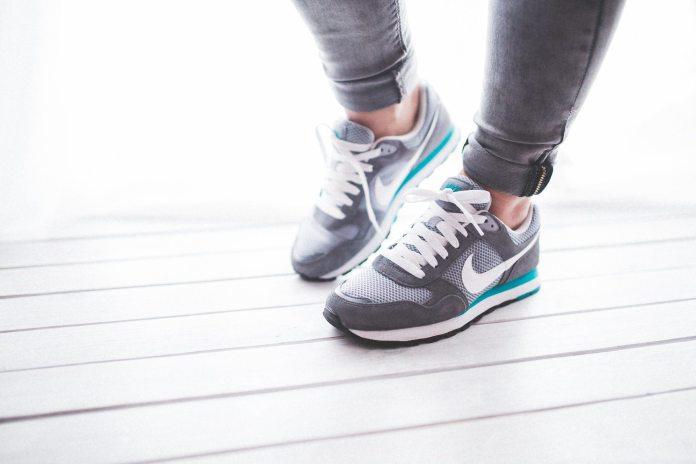woman running shoes