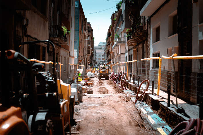 construction alley