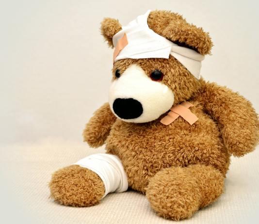 hurt teddy bear