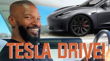 Jamie Foxx's Tesla Test Drive 1