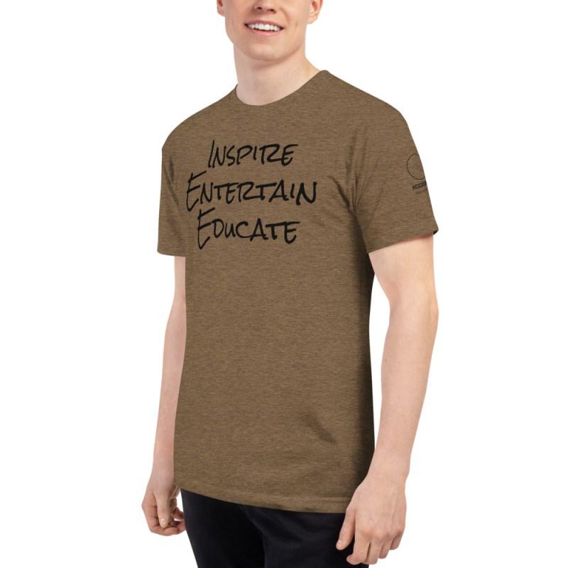 Inspire | Entertain | Educate Unisex Tri-Blend Track Shirt 7