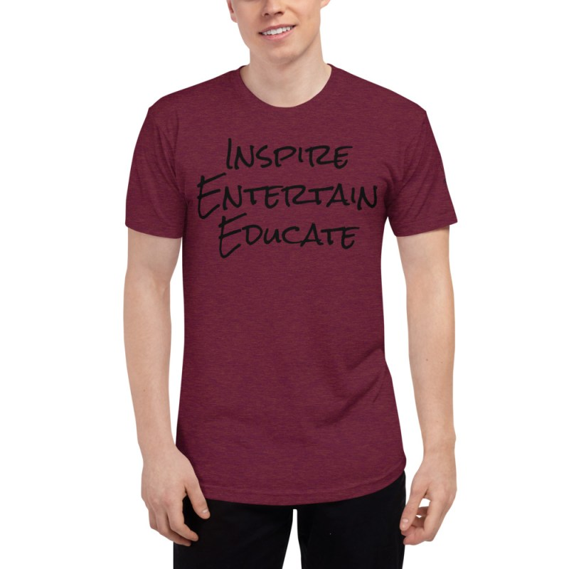 Inspire | Entertain | Educate Unisex Tri-Blend Track Shirt 2