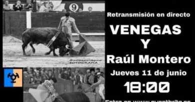 Venegas y el novillero Raúl Montero, mano a mano en el Toro del Corpus 2020