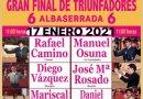 """La Gran Final del Certamen """"Las Raíces del Toreo"""", cambia de fecha"""