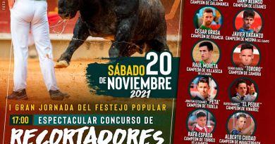 """Concurso de recortadores con """"Adolfos"""" y 12 toros de capea para el 20 de noviembre en Leganés"""