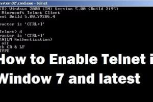 Enable Telnet