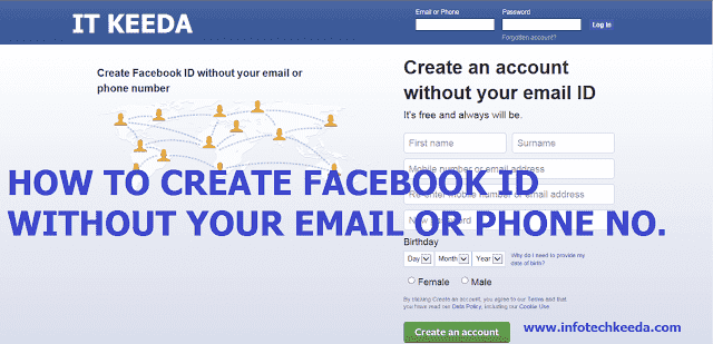 How to Create Facebook ID without your Email or phone number