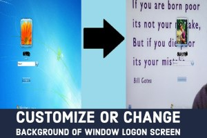 change background of window logon screen