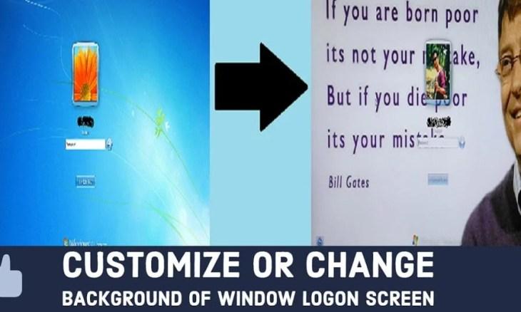 change background of window logon screen