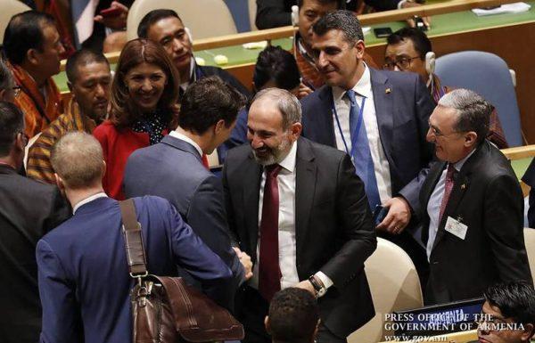 Неожиданная встреча премьер-министров Армении и Канады на заседании ООН