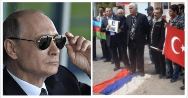 В Азербайджане протестуют против визита Владимира Путина в Баку