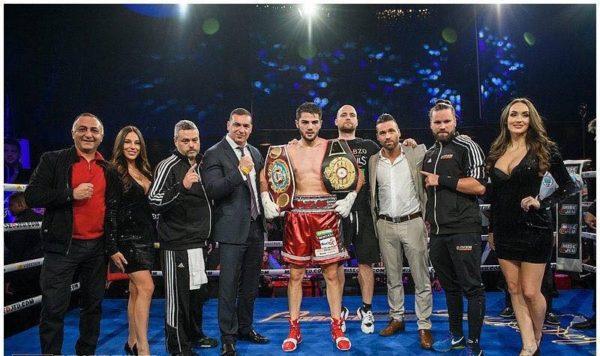 Армянский боксер удостоился двух поясов после чемпионского нокаута в Монреале