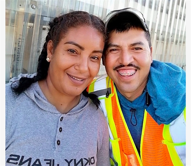 Erika and Jesus, two migrant agricultural workers from Mexico.