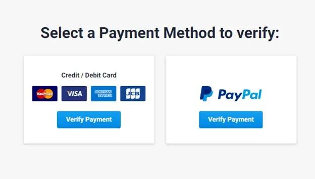 freelancer.com payment method verify