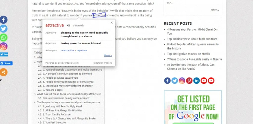 Best Google Chrome Extensions by Google for Dictionaries Instant Dictionary