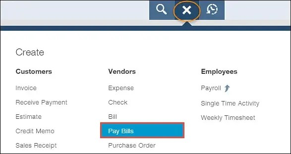 Select The Pay Bill Option