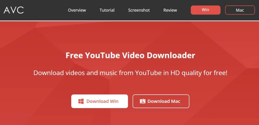 AVC Free YouTube to mp3 or Video Downloader