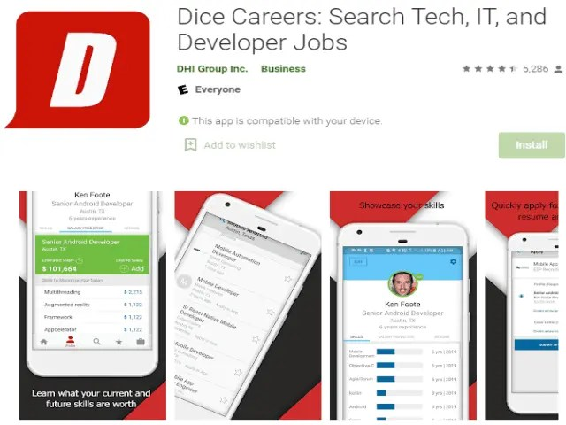Dice Careers Search Tech, IT, and Developer Jobs Best job search apps