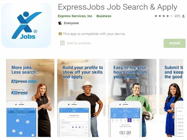 ExpressJobs Job Search & Apply Best job search apps