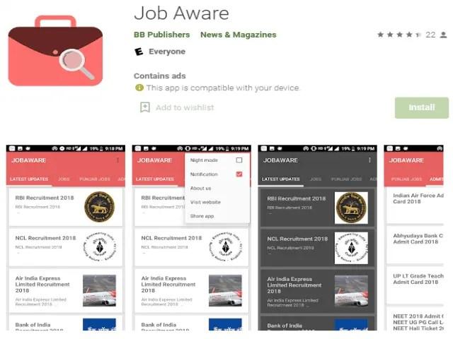 Job Aware Best job search apps