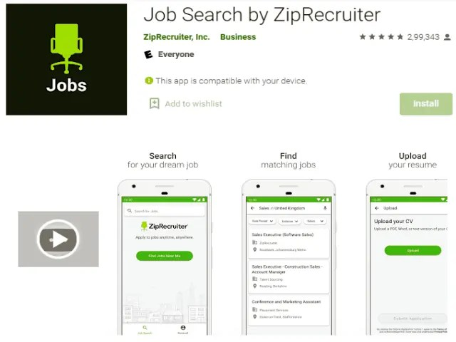 Job Search by ZipRecruiter Best job search apps