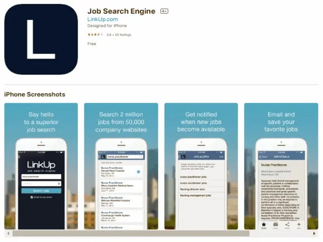 LinkUp Job Search Engine Best job search apps