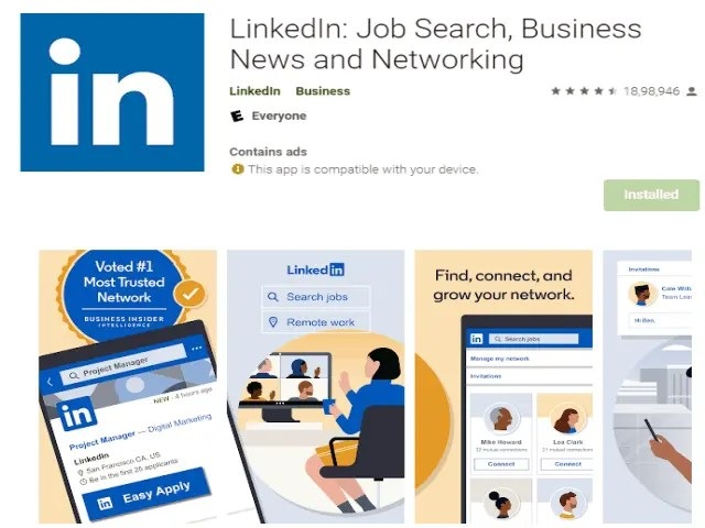 LinkedIn Job Search Business News and Networking Top 6 Best Job Search Apps 2021