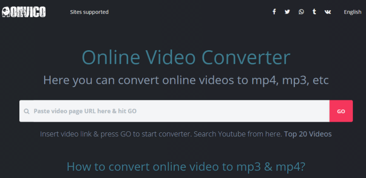 OnViCo - Online Video Converter Any Video or YouTube link to mp3 or mp4