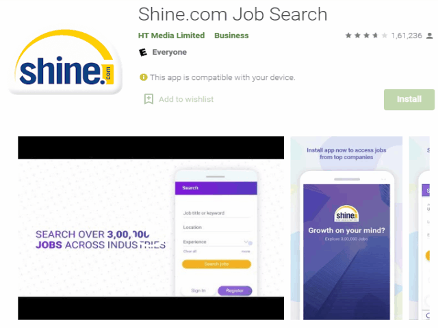 Shine.com Job Search Best job search apps