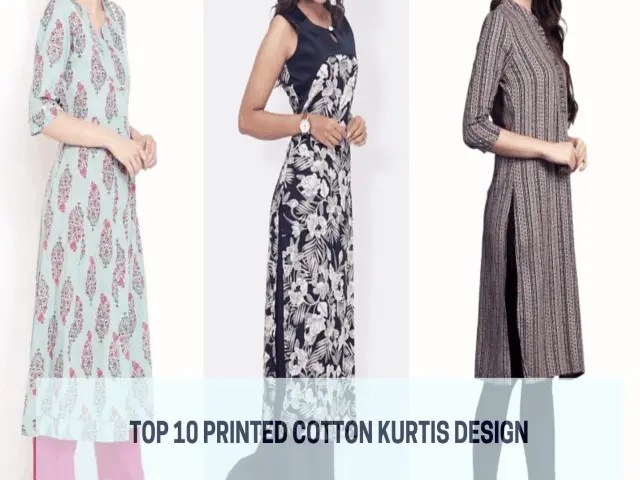 Top 10 Latest Kurti Designs For Printed Cotton Kurtis