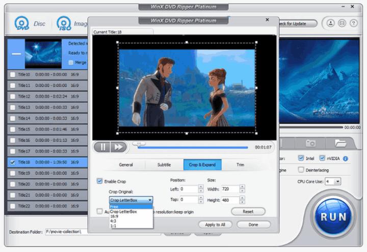 WinX DVD Ripper Platinum Best DVD To MP4 Conversion Tool