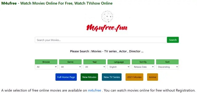 Top 6 Websites to Watch Free Movies Without Sign Up M4Ufree