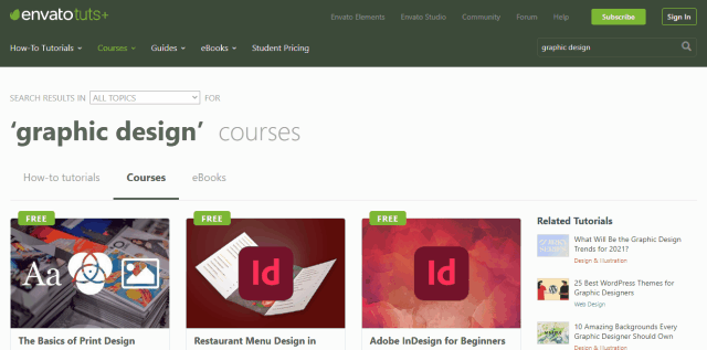 Envato Tuts+ Illustration and Design Courses