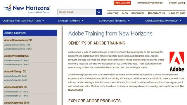 New Horizons Graphics Designing Course Trainings