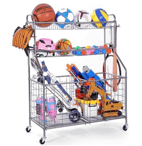 11 Best Toy Organizer That Keeps Your Inside Home Design WEYIMILA Ball Garage with Baskets