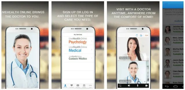 Best Telemedicine Apps for Android and IOS LiveHealth Online Mobile