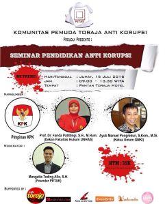 Seminar Anti Korupsi PETAK 2016