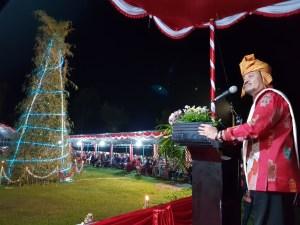 Syahrul Yasin Limpo saat hadiri Natal di Rambon