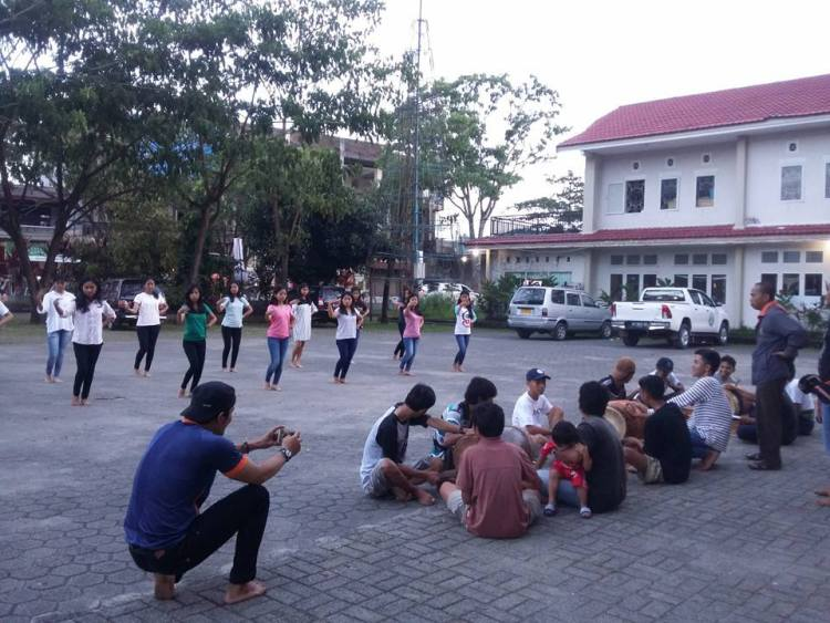 latihan arrang di batu pembukaan lovely december 2017