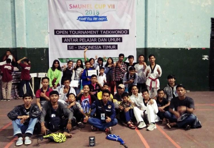 Kontingen Toraja Utara di Kejuaraan Taekwondo se-Indonesia Timur Smunel Cup 7 yang berlangsung di Lapangan Tennis Indoor Kantor Gubernur Sulawesi-Selatan.