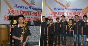 Hervian Juan Paginta, siswa SMKN 1 Tana Toraja berhasil meraih juara LKS bidang IT/Network Support