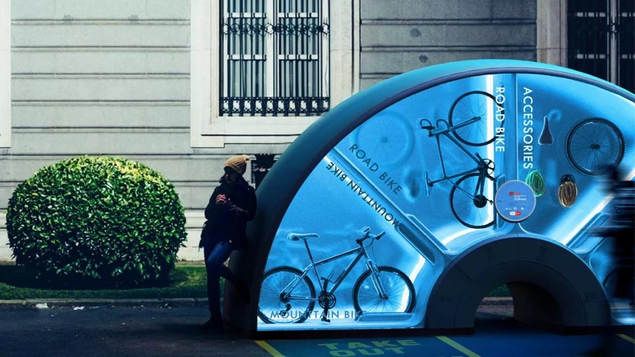 Футуристический вело-вендинг Orbike