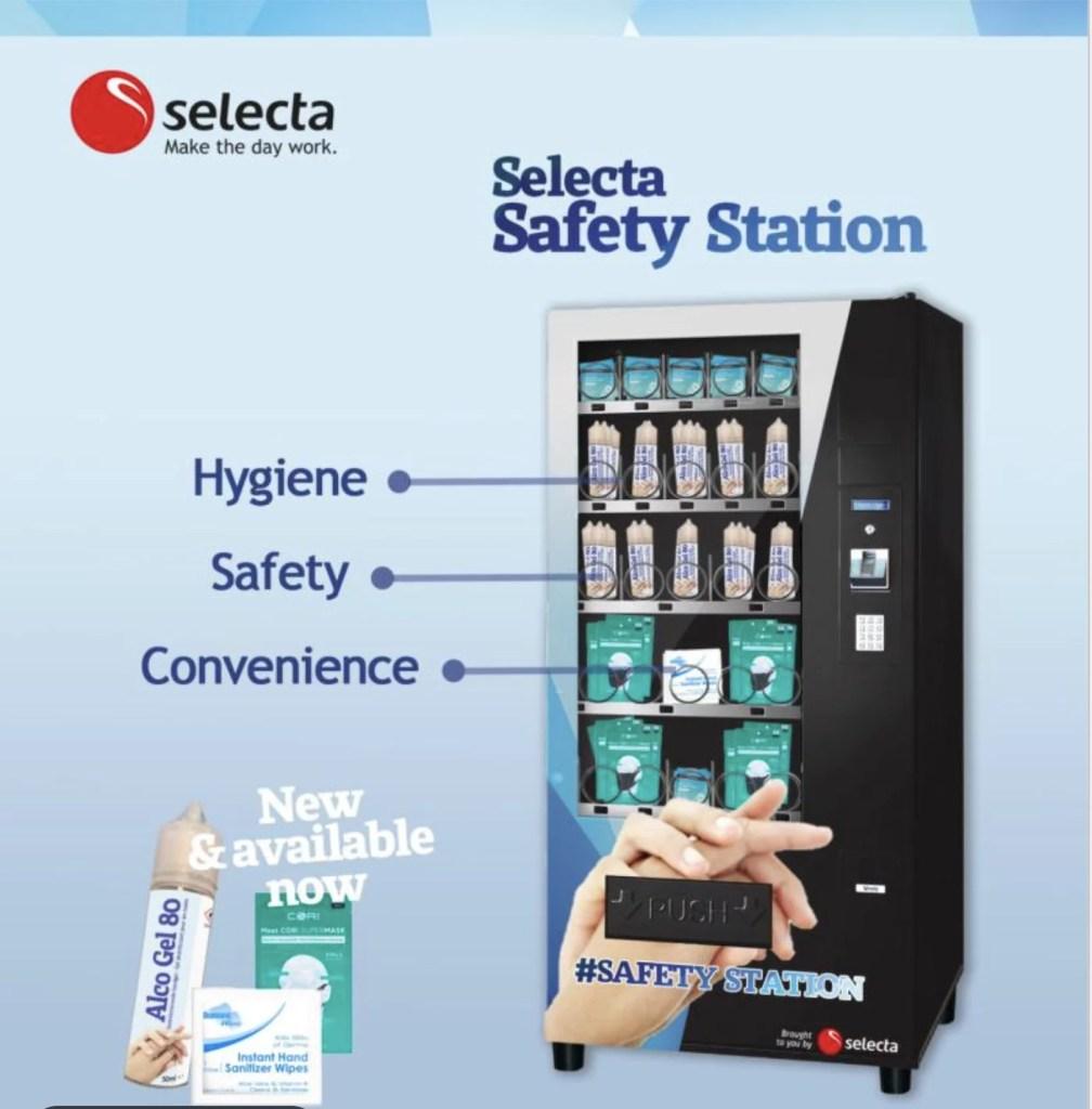 Поймать момент: Selecta размещает по всей Европе вендинговые автоматы с СИЗ