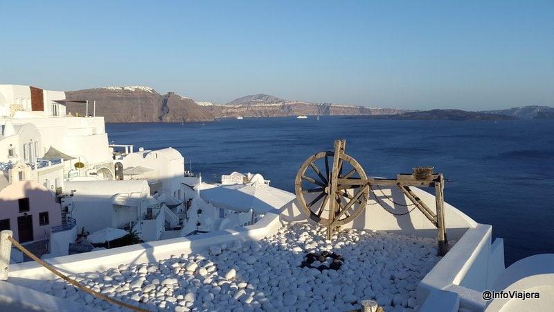 Vista desde Oia, Santorini, Grecia