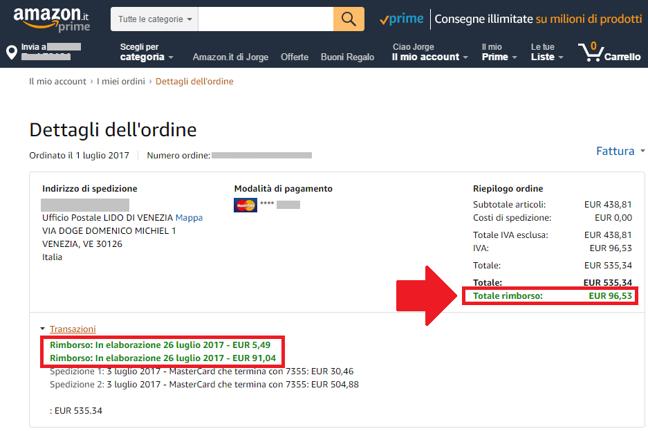 Amazon facturas compra sin iva