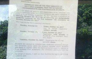 Uniuyo Academic Calendar