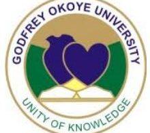 Godfrey Okoye University Admission Form