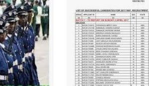 Nigerian Airforce Dssc List of Shortlisted Applicants