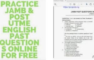 155 Jamb Sweet Sixteen Questions